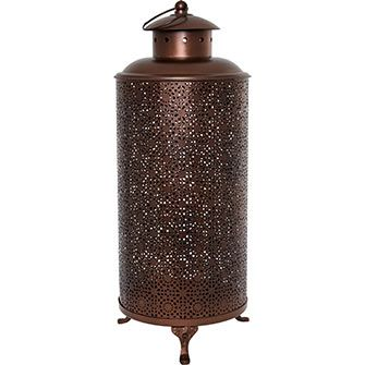 Copper-Tone Tall Candle Lantern