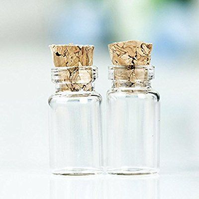 50pcs 1ML 11X22mm Frei-Flaschen Glas Phiolen mit Korken