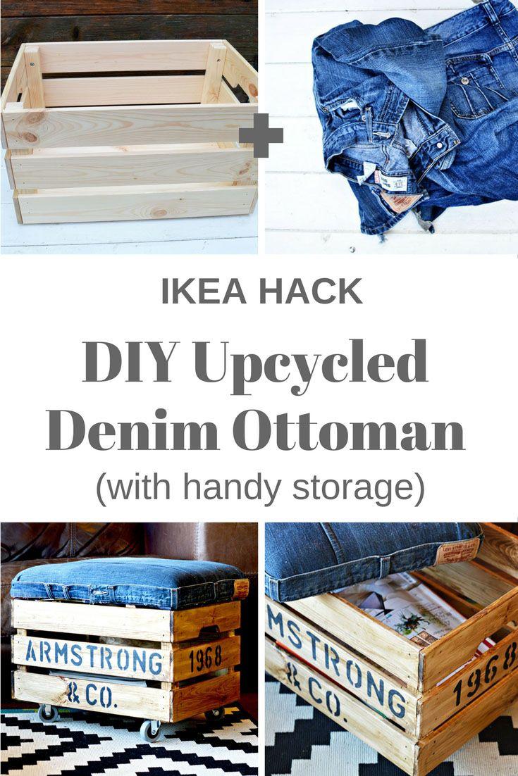Top 25 best crate ottoman ideas on pinterest diy storage diy ottoman and milk crates - Ikea hack storage ottoman ...