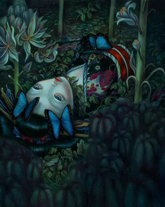 I love this man!!! His art makes me weep it's so haunting and gorgeous. Benjamin Lacombe