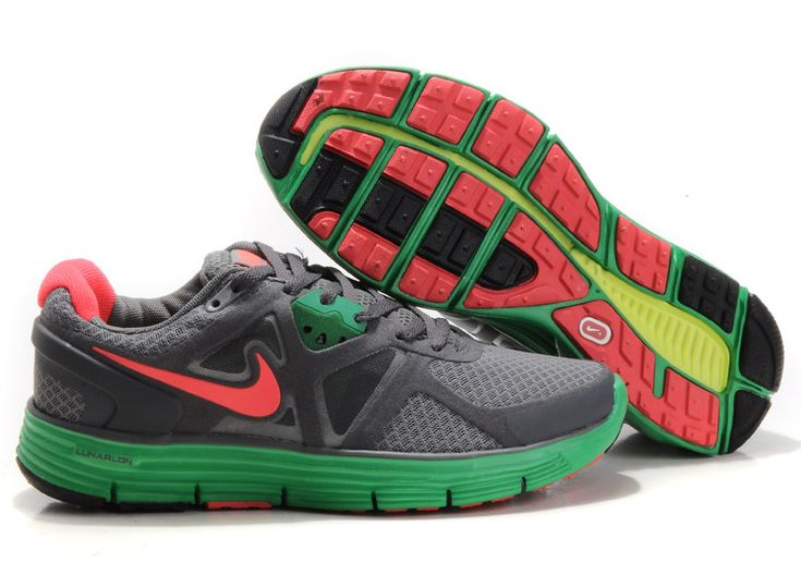 Nike Lunarglide 3 Wolf Grey/Stealth/Hyper Verde/Solar Red Women's Shoes