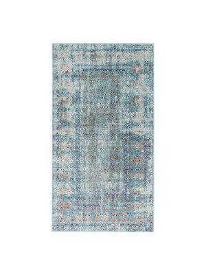 Tapis Bright   Bleu et bleu azur  150 x 80 cm  Poids: 2,10 kg/m²