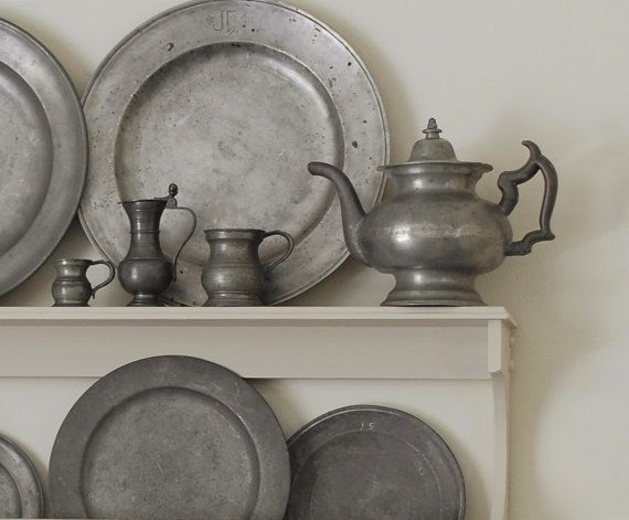 Early American Antique Pewter  I would love to add a couple of these pieces to my collection