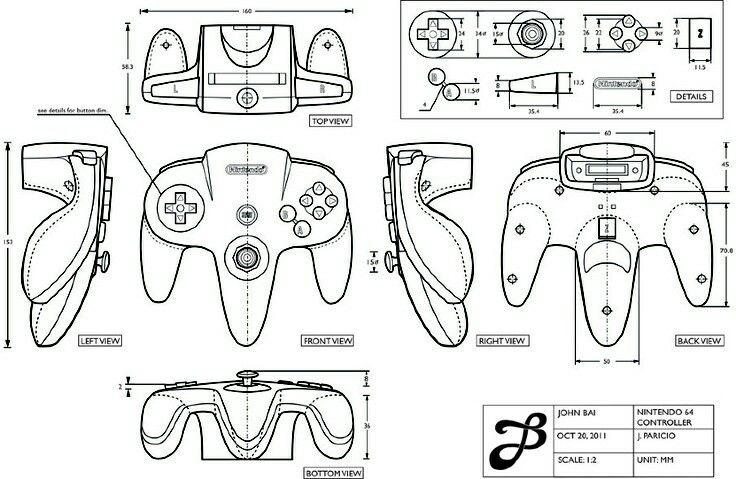 Line Drawing Xbox Controller : Best orthographic drawing images on pinterest