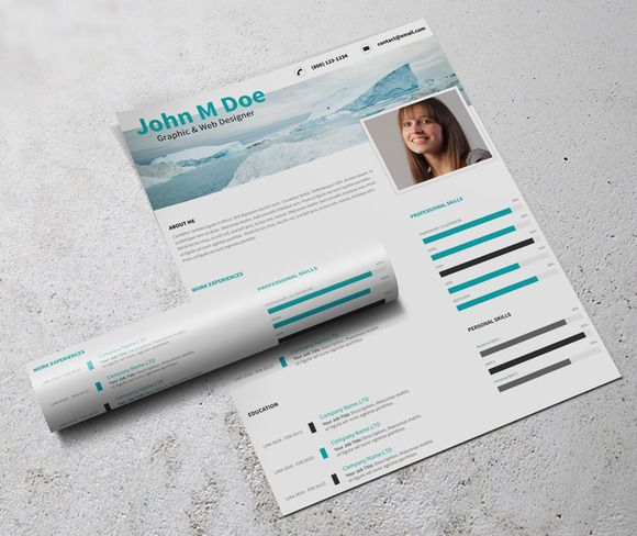 Simple Resume Template by @Graphicsauthor