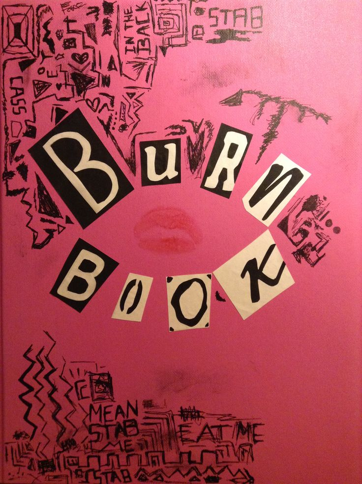 diy hand made burn book from mean girls