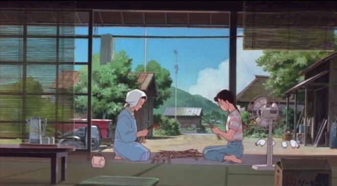"""Isao Takahata's 1991 film """"Omohide poro poro"""" (""""memories of falling teardrops"""" in english) or """"only yesterday"""" as the west knows it. Heartwarming coming of age film from studio ghibli, directed by Isao takahata who's best known for his heartbreaking anti-war film """"Grave of the fireflies"""""""