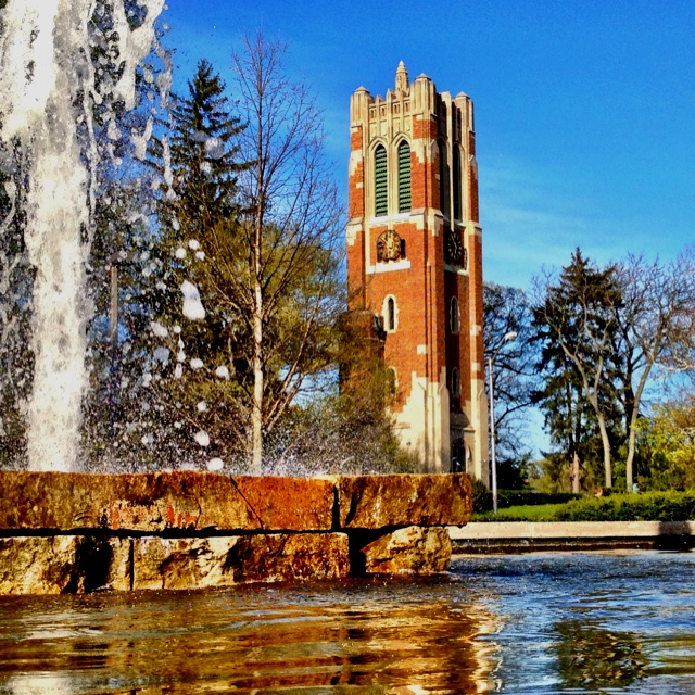 Beautiful Beaumont tower at Michigan State University - Adam McKay