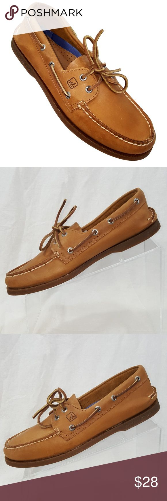Sperry Top Sider Mens Boat Shoes 9 M Brown Very good used condition. Light scuffing may be present in a few spots. May need light cleaning Sperry Shoes Boat Shoes