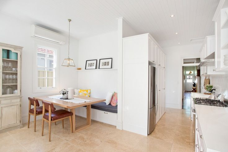 Renovated residence of relaxed sophistication, storage under chairs, 19 Maida Street Lilyfield, Pilcher Residential