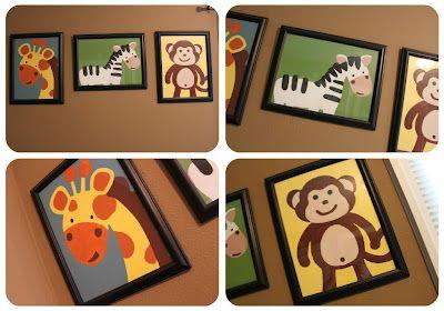 wall art  jungle theme for the nursery!
