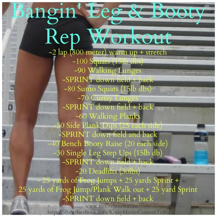 Bangin' Leg & Booty Workout.... Holy Hell, this looks intense!