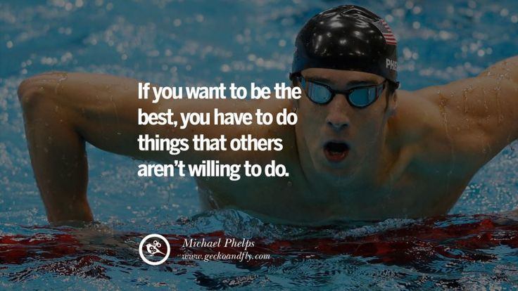 If you want to be the best, you have to do things that others aren't willing to do. - Michael Phelps Swimmer Motivational Inspirational Quotes By Olympic Athletes On The Spirit Of Sportsmanship facebook twitter pinterest