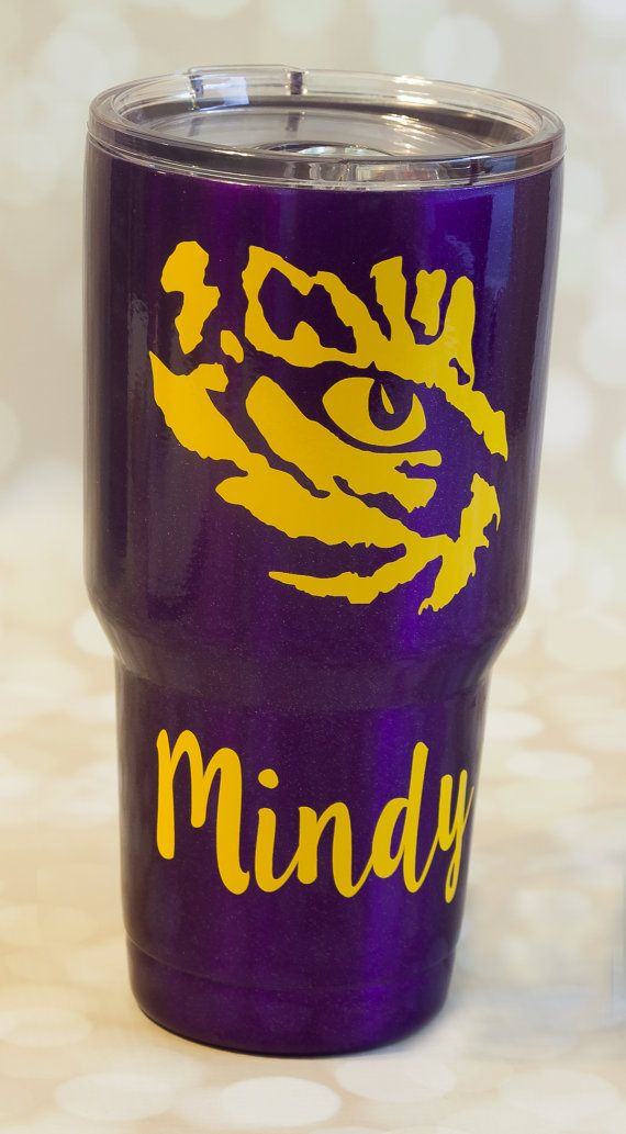Powder Coated Tumbler Lsu Personalized By