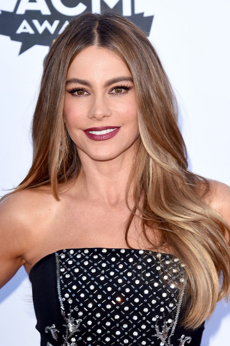Sofia Vergara, 43 hair color. Highlights on dark hair