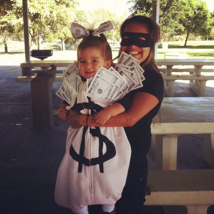 Thief and the Baby Money bag! Great Parent child costume