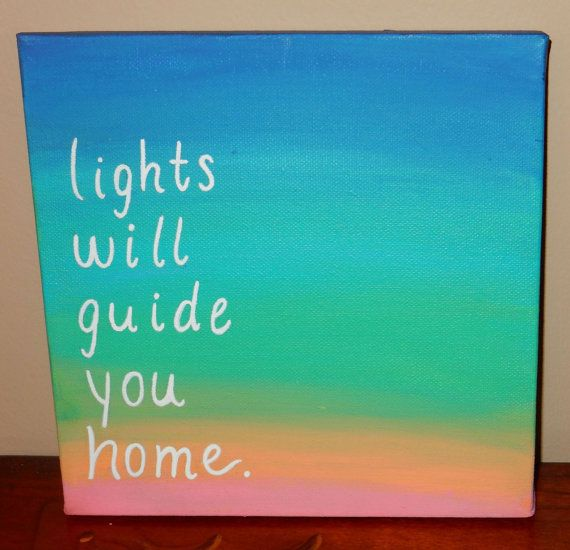 coldplay lights will guide you