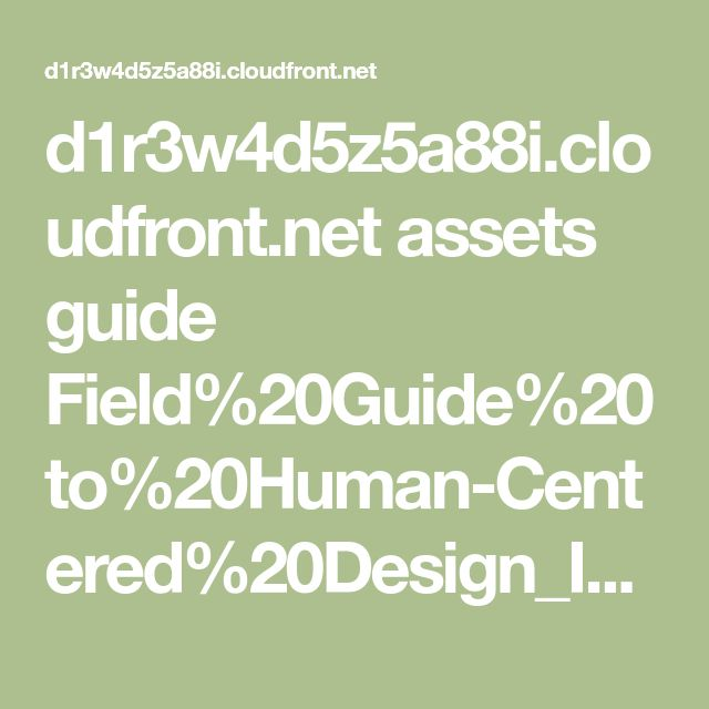 Best 25 w4 pdf ideas on pinterest sewing patterns free sewing d1r3w4d5z5a88ioudfront assets guide field20guide20to20human centered fandeluxe Gallery