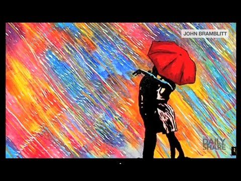 Blind man creates vibrant paintings just by using his sense of touch - YouTube