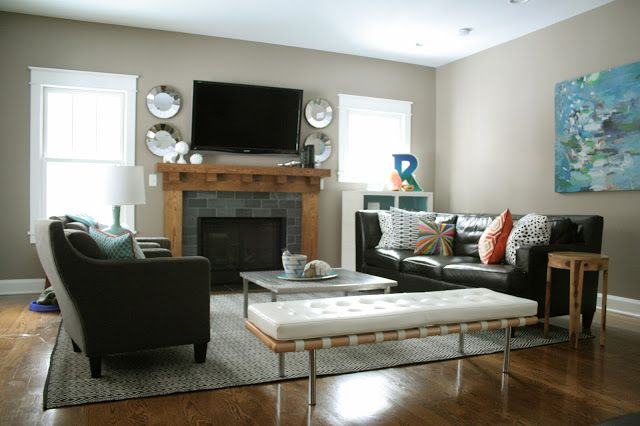 Pin by ashley alexander photography on house pinterest for Living room setup ideas with fireplace