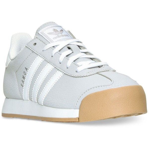 adidas Women's Samoa Casual Sneakers from Finish Line ($70) ❤ liked on Polyvore featuring shoes, sneakers, adidas trainers, adidas shoes, retro sneakers, 80s shoes and retro shoes