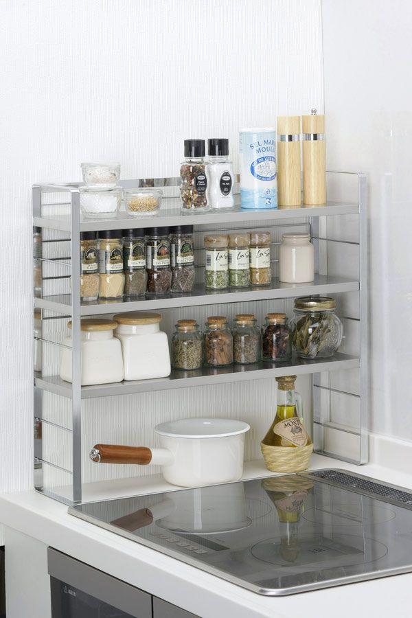 MURANOKAJIYA | Rakuten Global Market: 15.5 cm can be used as a normal kitchen shelf contro said rack 3-stage 34812 spy silk can be used far as x 56 cm (depth)