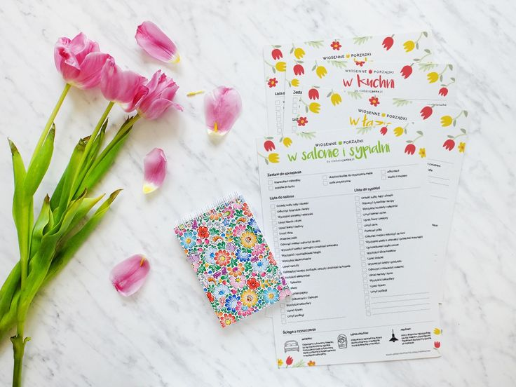 Lista zadań na wiosenne porządki do salonu, sypialni, kuchni, łazienki i pokoju dziecka - Niebałaganka