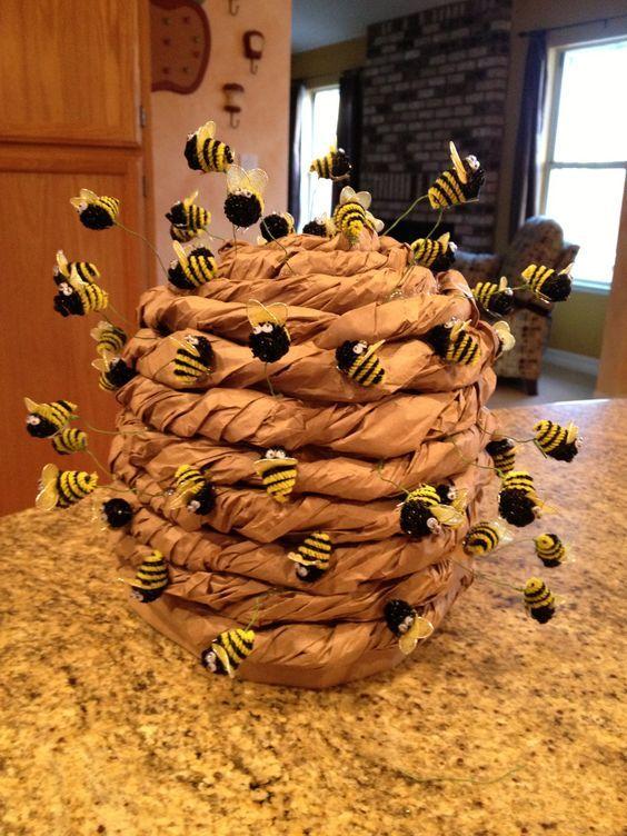 Bienenstock Kostüm selber machen
