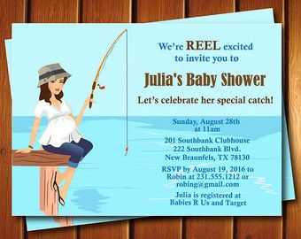 Neutral Gender Baby Shower Invitation  Fishing Baby Shower by FabPartyPrints | Etsy