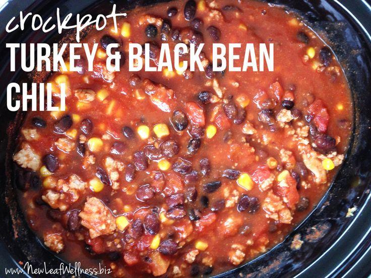 Crockpot Chili Recipes - Turkey and Black Bean Chili | My Eats ...