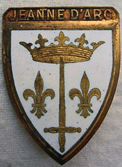 Joan Of Arc Coat Of Arms Black And White