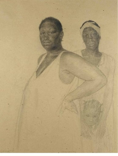 Henry Casselli Generations, 2012 Pencil on heavy weight, toned paper  33 x 25 in  Gerald Peters Gallery, NY