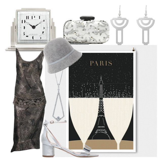 """""""You're So Art Deco"""" by hollyberry1234 ❤ liked on Polyvore featuring Ralph Lauren Home, Carvela, Oscar de la Renta, Ralph Lauren and BERRICLE"""