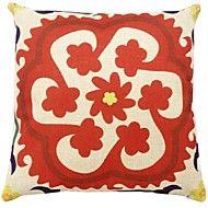 "Createforlife® 18"" Retro Red Folra Print Patterns... – AUD $ 14.29"