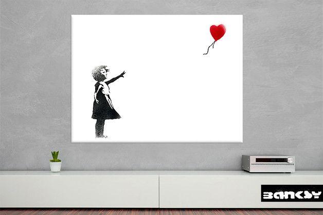 Wandtattoo - BANKSY LEINWAND After Love ab 24x18cm - ein Designerstück von STREET-HEART bei DaWanda