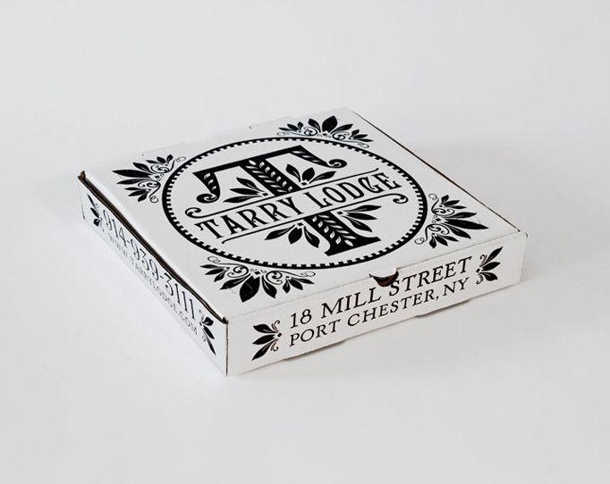 branding on mini pizza box