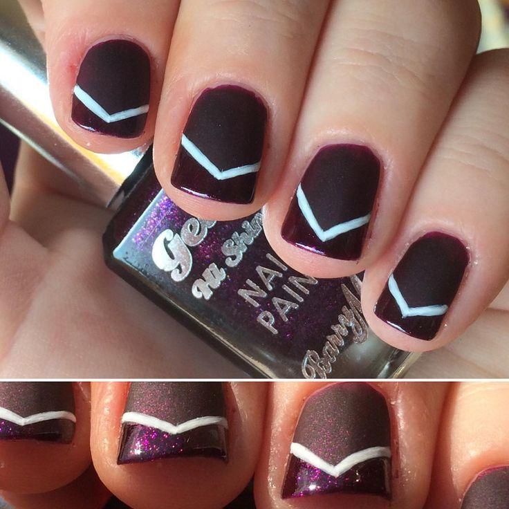 @nnmnails on Instagram: purple glitter nail art matte and gloss