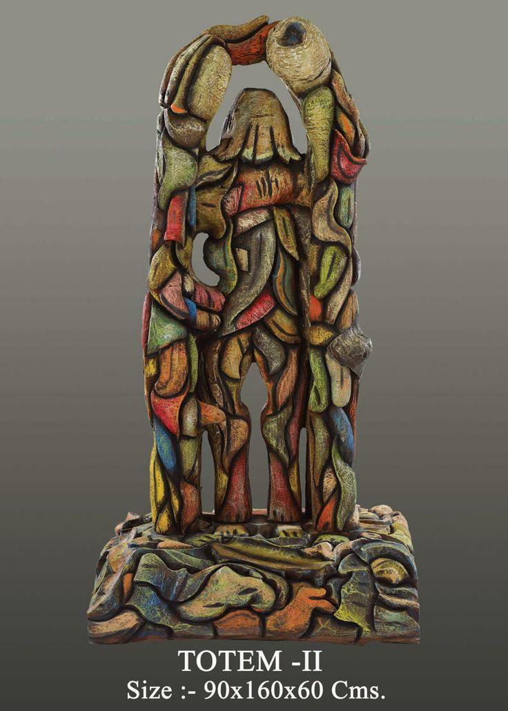 Neeraj Gupta Marble Sculpture Totem II  Price on Demand  Size:-90x160x60cms Created by Neeraj Gupta