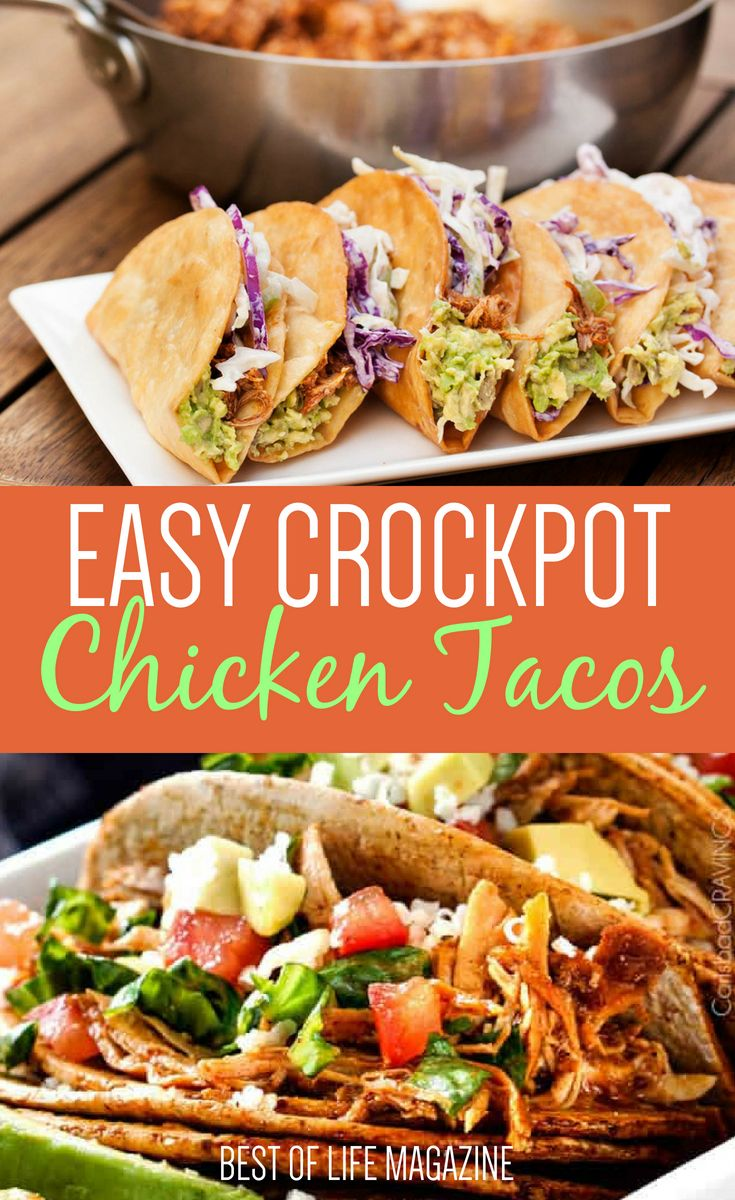 Crockpot Chicken Taco Recipes Party Food And Ideas Pinterest
