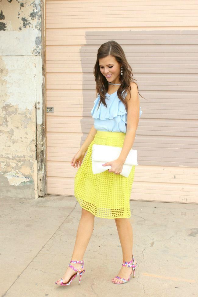 | @LOFT geo eyelet skirt & @nordstrom top |