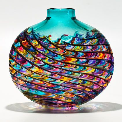Glass/metal infusion technique created by famous Polish Glass artist Adam Jablonski