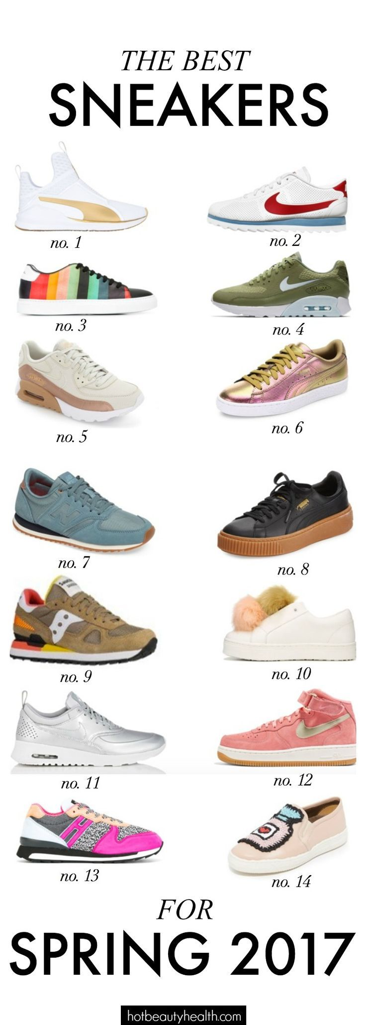 I rounded up the best women's fashion sneakers for spring 2017! Several chic looks to choose from to find your personal style.