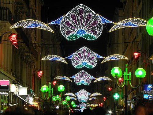 "Lyon, Fête des Lumières 2012 ""Granada Y Rafaga"", Hexagone Illumination, Rue Victor Hugo - 06.12.12 #christmas #lighting"