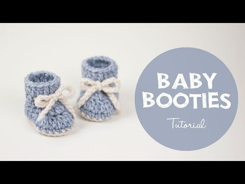 How To Make a Cute and Easy Baby Booties - Winter Snowflake | Croby Patterns - YouTube