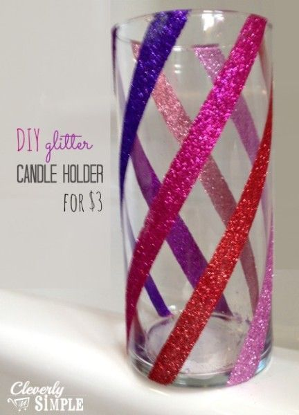 Do you want to create a unique candle holder that will match whatever room you want it to. Make this easy glitter candle for only a few bucks!
