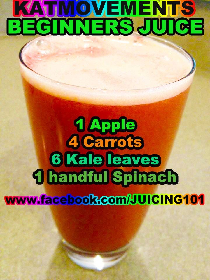 Juicing Vegetables & Fruit    Here is a prrrfect juice recipe for anyone who has been juicing fruit and who wants to start including vital veggies into his/her combos!     *Yields about 12 oz of juice  *To Your Health!   Kat  =^.^= https://www.facebook.com/JUICING101