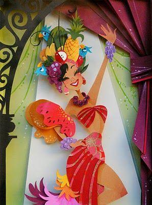 This artists work is inspiring! Carmen Miranda  Brittney Lee