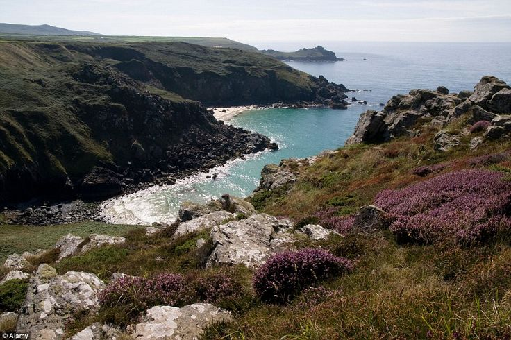 The view from Bosigran Castle towards Zennor.As you walk along the majestic cliffs, watch out for relics of 19th-century tin and copper mining