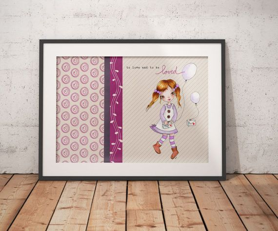 To love and to be loved Girl Nursery Wall Decor Kids Wall