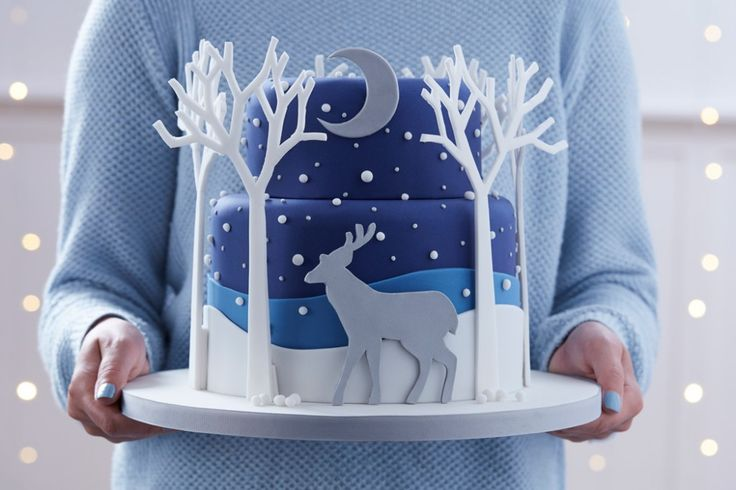 How to Make a Woodland Stag Cake #christmas #cake #baking #stag #woodland #scandi #advanced #